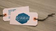 Gestempelde visitekaartjes, De Hondsdagen grafisch ontwerp